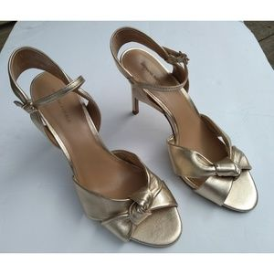 Banana Republic Gold Knot Knotted High Heels